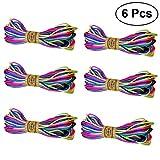stobok 6pièces de nylon coloré câble de montage 20m Kumihimo chapelet Noeud Chinois Fil Shamballa Macrame Bracelet Accessoires de bricolage