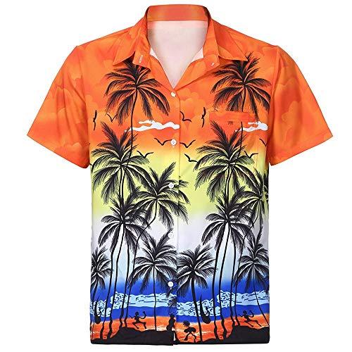 Cebbay Camisa Hawaiana de los Hombres 3D Impreso Bolsillo Moda...