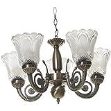 Generic Rck Products Antique Design Brass Chandelier 5 Lamps