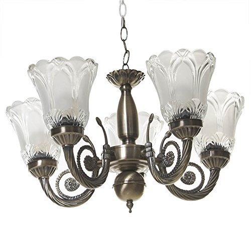Rck Antique Design Brass Chandelier - 5 Lamps (Imported Antique Design Modern chandelier)