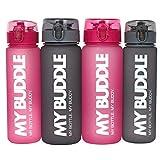 MyBuddle MyBuddle Auslaufsichere Trinkflasche Kinder | Wasserflasche Sport 560 ml | Trinkflasche wasserdicht Kinder | Ideale Wasserflasche wiederverwendbar