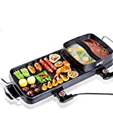 2000W POWER Korean Smokeless barbecue electric grill pan&hotpot roasting oven household electric baking pan without smoke and nonstick …
