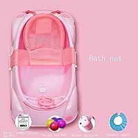 Garnish Bañera De Bebé El Recién Nacido Puede Sentarse Y Tumbarse En La Tina General Baño De Bebé Infantil -by BOBE Shop (Color : Pink (Bath Net))