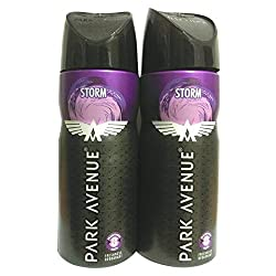 Park Avenue Freshness Deodorant -Storm 130ml(Pack of 2)