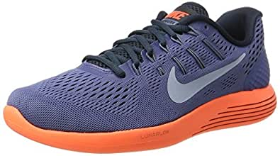32a1a063ed272 ... discount code for nike mens lunarglide 8 grey orange running shoes  843725 408 80411 e7ae9
