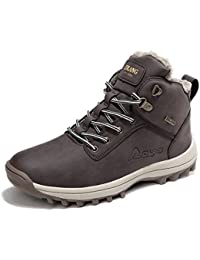 Sixspace Hombre Botines Zapatos Botas de Nieve Invierno Cortas Fur Aire Libre Boots