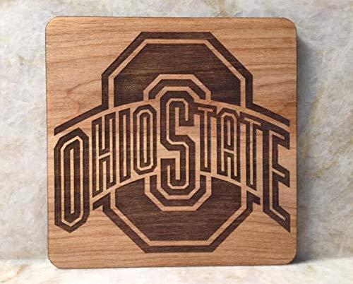 For367Walton Ohio State College Fußball-Untersetzer, Motiv: Buckeyes Square Vatertag - Inspirierende Fußball