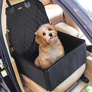 2 in 1 Pet dog car supplies thick waterproof single front seat pet car mat (Black) 511hBKiKctL