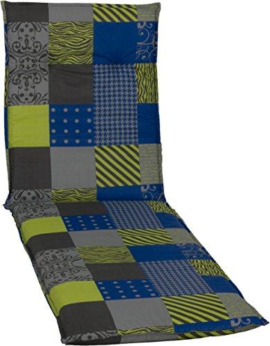 beo Gartenstuhlauflagen Saumauflage für Rolliegen Design Patchwork, circa 190 x 58 x 6 cm,...