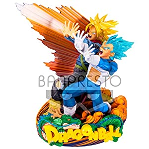 Banpresto 80553 , Super Master Stars Diorama II, Vegeta & Trunks, the brush, Bola Super del Dragón, 20 cm