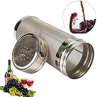 FLORATECK - Bière Dry Hopper filtre en acier inoxydable 18 x 7 cm Hop Spider Homebrew Bière Vin filtre à café Passoire avec 300 Micron en maille pour fût 18*7cm