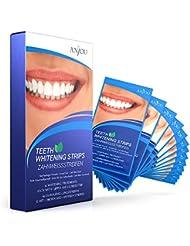 Zahnaufhellung, White Strips, Zahnbleaching-Set, Anjou Zahnweißstreifen, Zahnpflege Bleaching, Entfernen Verfärbungen effektiv & erfrischen den Atem mit Minzgeschmack