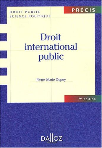 Droit international public par Pierre-Marie Dupuy