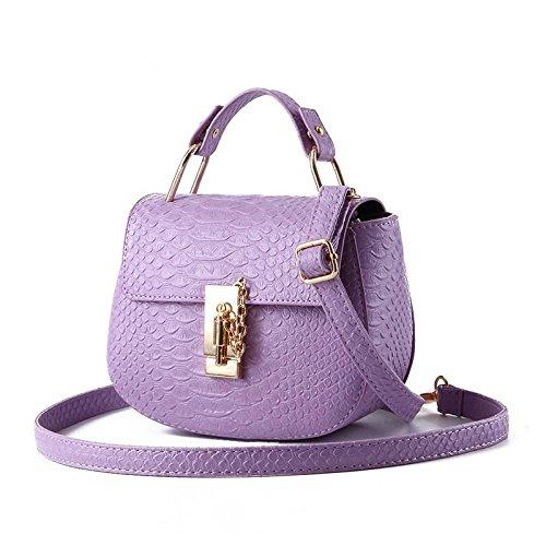 HQYSS Borse donna Forma rotonda fresca piccola coreana PU cuoio donne spalla borsa Messenger , purple taro purple taro