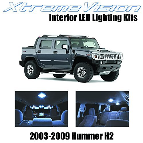 xtremevision-hummer-h2-2003-2009-15-pieces-cool-white-premium-interior-led-kit-package-installation-