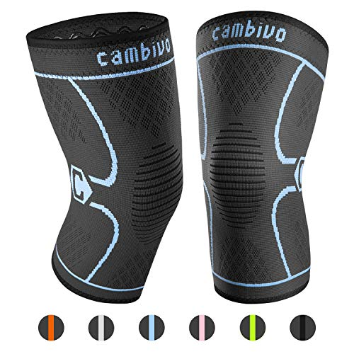 CAMBIVO 2 x Kniebandage, Knieschoner, Kniestützer für Meniskusriss, Arthritis, ACL-Verletzung, Gelenkkrankheiten, Laufen, Wandern, Joggen, Sport, Volleyball, Crossfit -