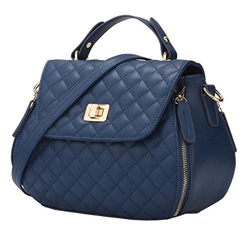 VALIN S812 Nouveau style PU Cuir Sacs portés épaule Sacs portés main,265×140×200(mm) Bleu