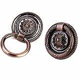 FBSHOP(TM) 2PCS Antike Bronze Ring Pull Möbelknopf Möbelknauf Kabinett Knauf Schublade Schrank Möbelgriffe Luxus Pull Handle