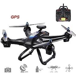 Jiayuane Hanbaili (No Carmera) Global Drone X183 con 5 GHz, función de bloqueo del motor con función de vuelo GPS, GPS siguiendo automáticamente