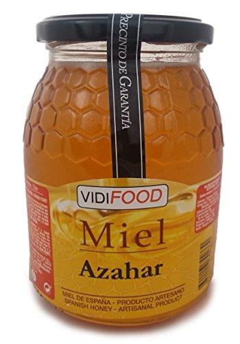 Miel de Azahar - 1kg - Producida en España - Alta Calidad, tradicional & 100% pura - Aroma Floral Intenso y Sabor Fuerte y Dulce - Amplia variedad de Deliciosos Sabores