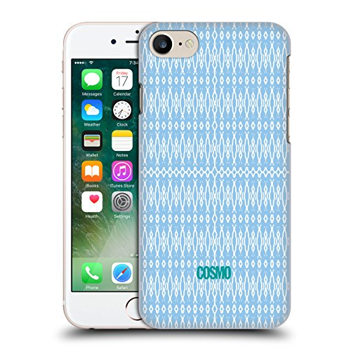 Official Cosmopolitan Multicolour 2 Boho Patterns Hard Back Case for Apple iPhone X Light Blue