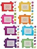 Unbekannt XXL Wandtattoo / Sticker - Fotorahmen als Puzzle Herzen Blumen für Bilder - Wandsticker Aufkleber selbstklebend