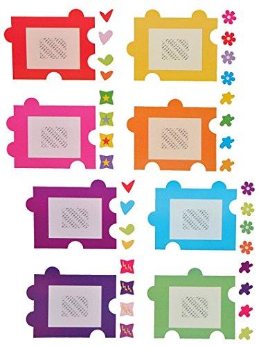 Unbekannt XXL Wandtattoo / Sticker - Fotorahmen als Puzzle Herzen Blumen für Bilder - Wandsticker Aufkleber selbstklebend - Poster Set Teile