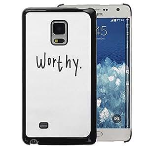 Planetar® ( Worthy Calligraphy Text Motivational ) Samsung Galaxy Mega 5.8 / i9150 / i9152 Handyhülle Schale Hart Silikon Hülle Schutzhülle Case