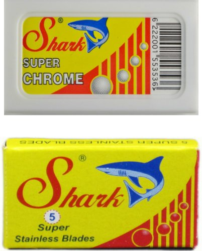 shark-super-stainless-double-edge-safety-razor-blades-and-shark-super-chrome-double-edge-safety-razo