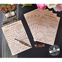 30 Gästebuch-Karten für Hochzeit, lustige Fragen an Hochzeitsgäste zum ausfüllen & einkleben