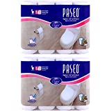 Paseo Bathroom Tissue 8 rolls 3 ply Pack Of 2