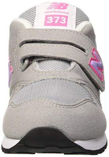 New Balance Nbkv373flp, Chaussures de Marche pour Bébé Fille Jaune (Grey Pink)