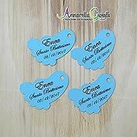 Cartellini battesimo personalizzati, tag piedino, bomboniere, piedi, etichette, nascita, battesimo, bimbo, bimba, tag piedini.