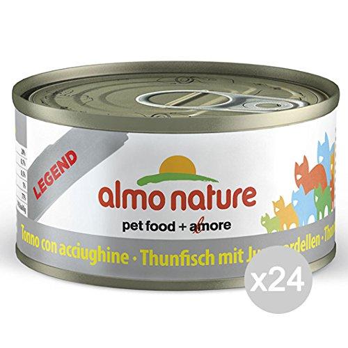 Almo Nature 5084 Lot de 24 boîtes à Thon en Forme de Chat 70 g