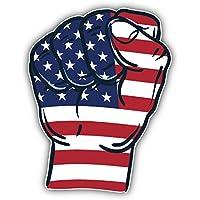 Stati Uniti d' America Bandiera mondo Fist Art Decor adesivo 10x 12cm
