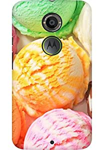 AMEZ designer printed 3d premium high quality back case cover for Moto X 2nd Gen. (ice cream)
