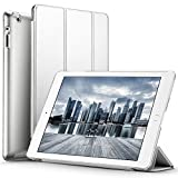 ESR Slim-Fit iPad Smart Cover Case for Apple iPad 2 iPad 3 iPad 4 (2014 Version with Built-in Stand and Front/Back Protection and Built-In Magnet for Sleep/Wake Feature), Silver Grey