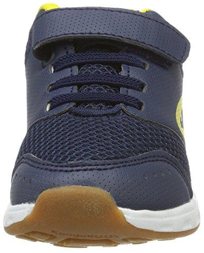 KangaROOS Rodo Ev, chaussons d'intérieur mixte enfant Blau (Dk Navy/Yellow)