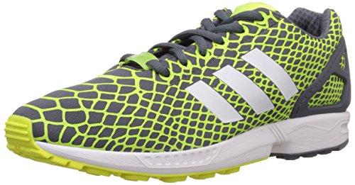 adidas ZX Flux Techfit Herren Sneakers, gelb / weiß / grau, 43 EU