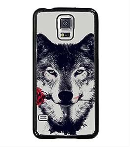 ifasho Designer Back Case Cover for Samsung Galaxy S5 :: Samsung Galaxy S5 G900I :: Samsung Galaxy S5 G900A G900F G900I G900M G900T G900W8 G900K (Dog Cage Dog Dress For Labrador A Dog Named Duke)