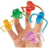 Lot de 10 Monstres à Doigt de différents coloris - Idéal comme cadeau de pochette surprise