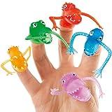 Marionetas de Monstruos para Dedos Pequeños Juguetes Perfectos como Relleno de Piñata Divertidos Premios y Regalos de Fiestas Infantiles (Pack de 10)