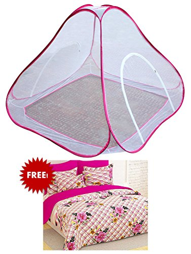 Bedspun Double Bed Pink mosquito net double bed Free Double Size Elegent...