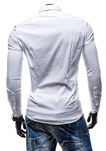 BOLF - Chemise casual – Manches longues – élégant - AOSFUS 7197 - Homme Blanc