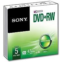 Sony 5DPW47SS DVD+RW, 5 Pezzi, Multicolore