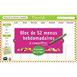 BLOC DE MENUS A COMPLETER MEMONIAK 2016