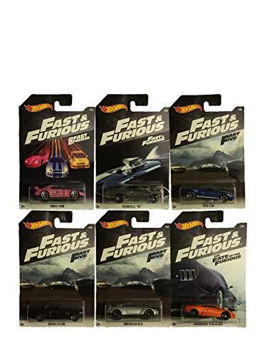 Mattel Fast & Furious Auto Die Cast 1:64, Multicolor, MT-FKF06, (Modell sortiert), 1 Einheit