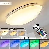 LED Deckenleuchte Zoar mit Farbwechsler Deckenlampe mit Fernbedienung