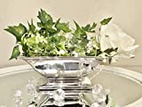 DRULINE Dekoschale Silber Keramik Tisch Deko Schale Weihnachten Dekoration