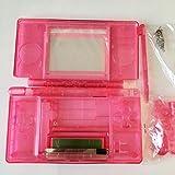 Full Set Ersatzteile Gehäuse Cover Case Ersatz für NDSL Nintendo DS Lite Konsole mit Knopf Kit Transparent/Pink